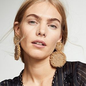 NEW BaubleBar Gold Rianne Beaded Drop Earrings